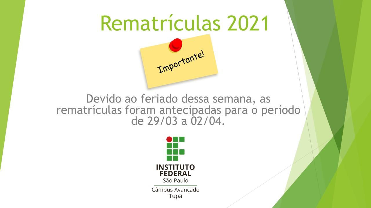 Rematrículas 2021