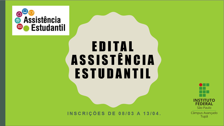Inscrições para o Programa de Auxílio Permanência